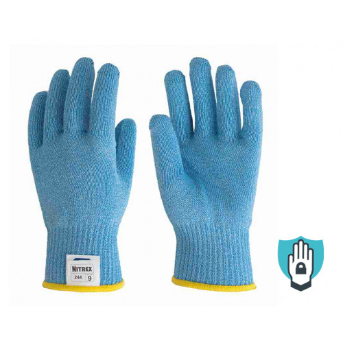 Nitrex 244 - Seamless Cut Resistant Gloves - Food Safe - Ambidextrous - NitreGuard Technology - Cases of 50 Gloves, 1 Glove per Bag