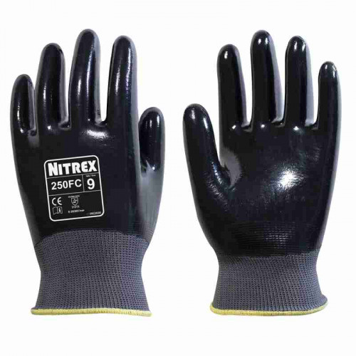 Nitrex 250FC - Fully Coated Nitrile Gloves - High dexterity & Grip  - In Bags of 10 Pairs