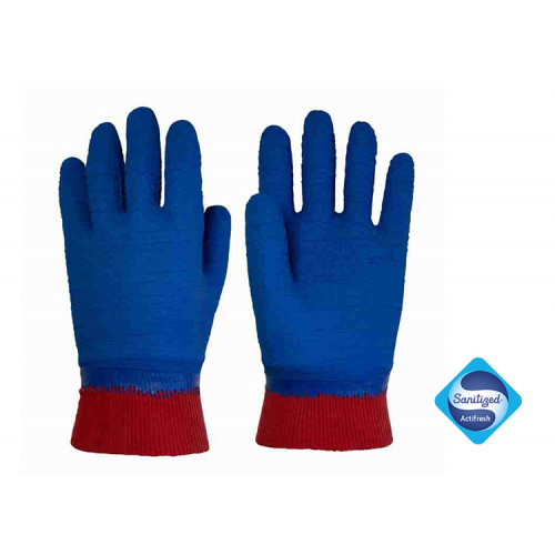 Nitrex 275BG - Latex Coated Gloves - Moisture Wicking -  Level B Cut Protection - Wet & Dry Grip - Sanitized® Actifresh - In Bags of 10 Pairs