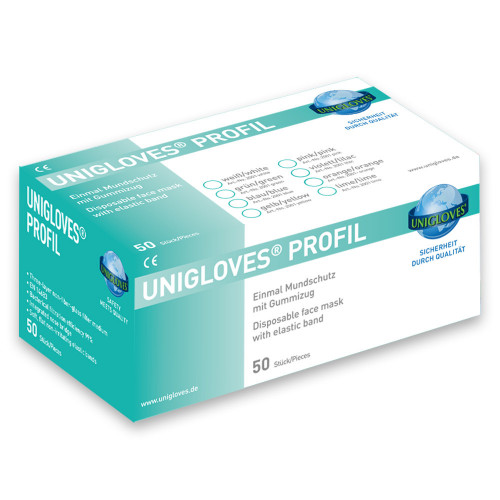 Profil Facemask - Blue - Earloop - Cases of 10 Boxes, 50 Masks per Box