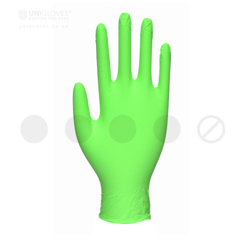 Lime Pearl Nitrile Gloves - Box