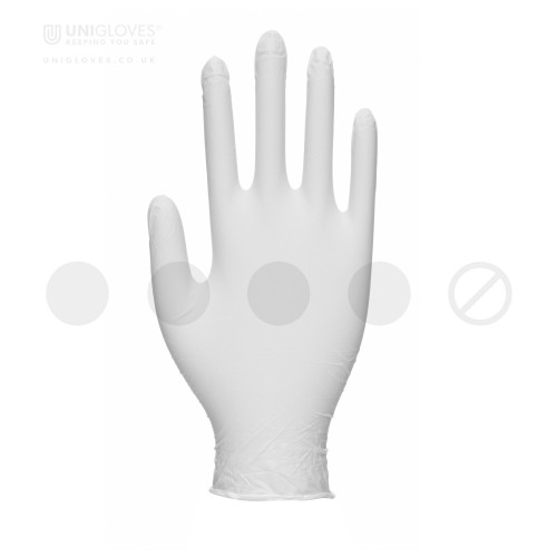 Vitality White Nitrile Moisturising Gloves - Box
