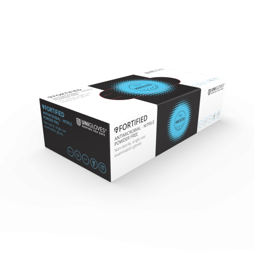 Fortified Antimicrobial Nitrile Gloves - Box