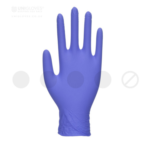 Zero Accelerator Free Blue Nitrile Gloves - Box