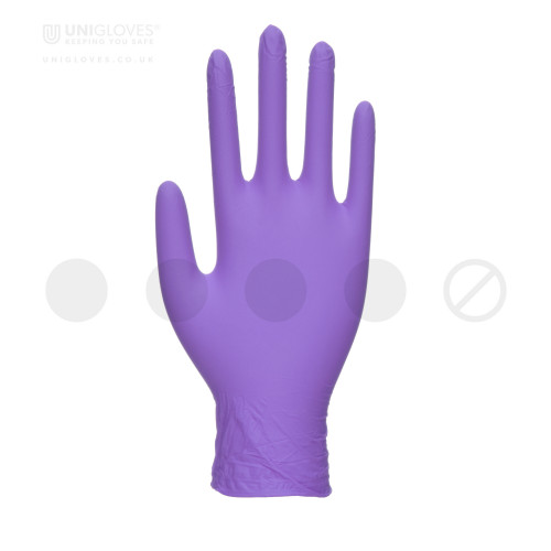 Stronghold Purple Nitrile Gloves - Box