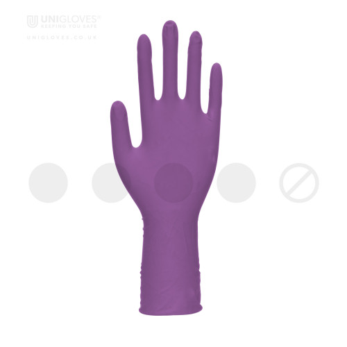 Stronghold+ Long Cuff Purple Nitrile Gloves - Box