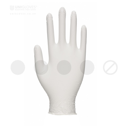 White Pearl Nitrile Gloves - Box