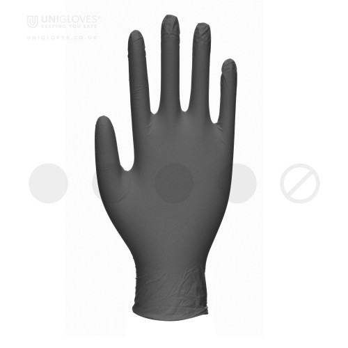 Black Pearl Nitrile Gloves - Box