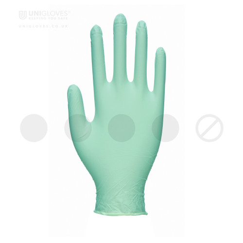 Green Pearl Nitrile Gloves - Box