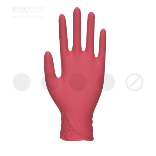 Red Pearl Nitrile Gloves - Box