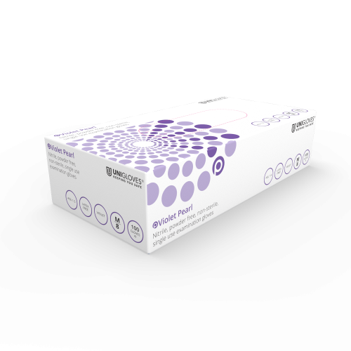 Violet Pearl Nitrile Gloves - Box
