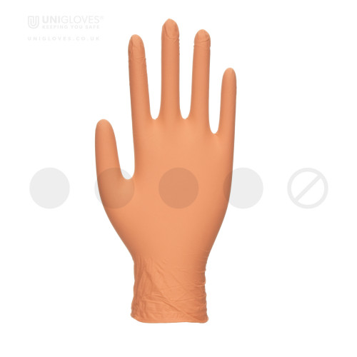 Peach Pearl Nitrile Gloves - Box