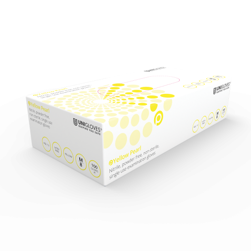 Yellow Pearl Nitrile Gloves - Box