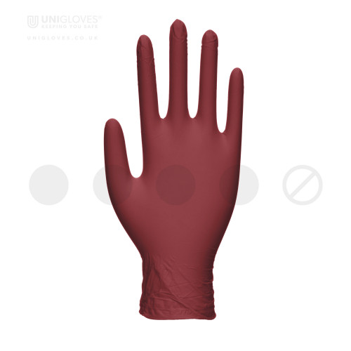 Burgundy Pearl Nitrile Gloves - Box