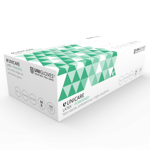 Unicare Powdered Latex Gloves - Box
