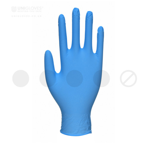 Unicare Blue Nitrile Gloves - Box