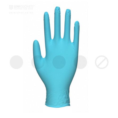 Unitrile Blue Nitrile Vinyl Gloves - Box