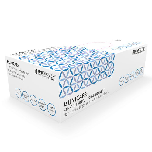Unicare Stretch Vinyl Gloves - Box