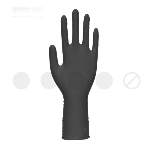 Select Black Long Cuff Latex Gloves - Box
