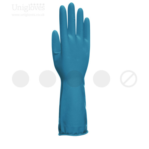 Unicare Blue Latex Household Gloves - Bag