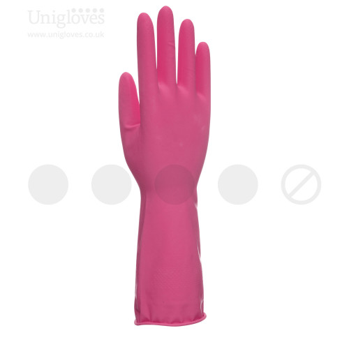 Unicare Pink Latex Household Gloves - Bag