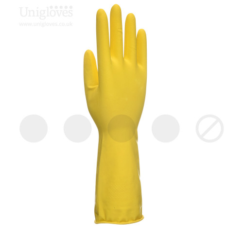 Allsafe Yellow Latex Household Gloves - Bag